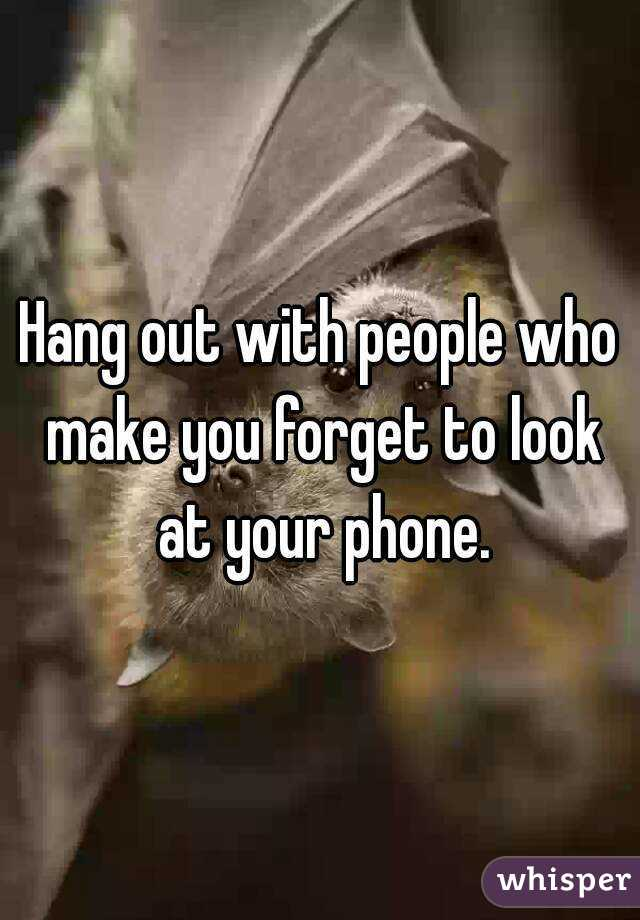Hang out with people who make
