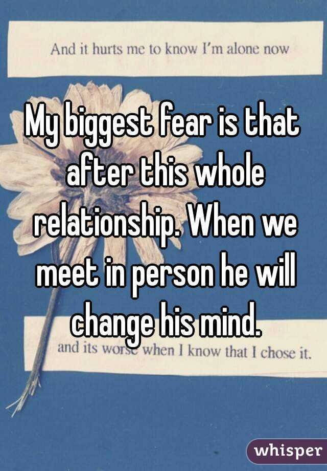 His biggest dating fears