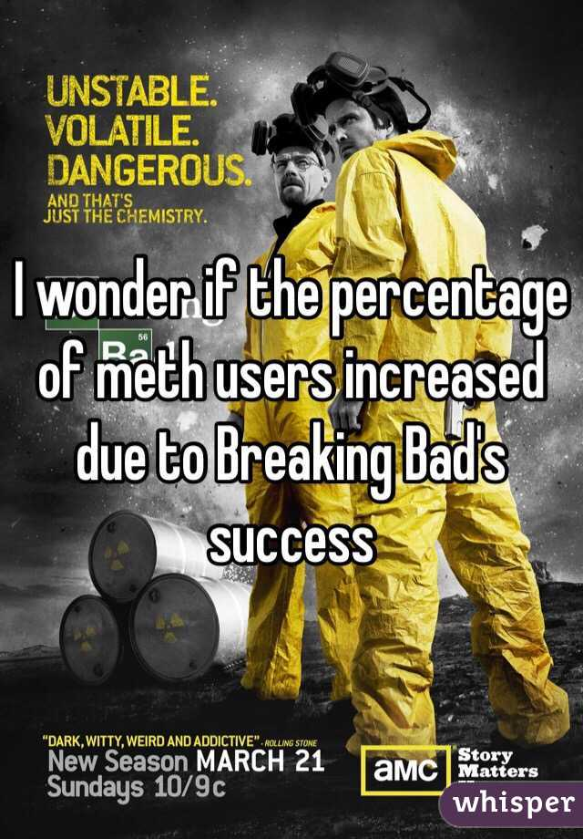 I wonder if the percentage of meth users increased due to Breaking Bad's success