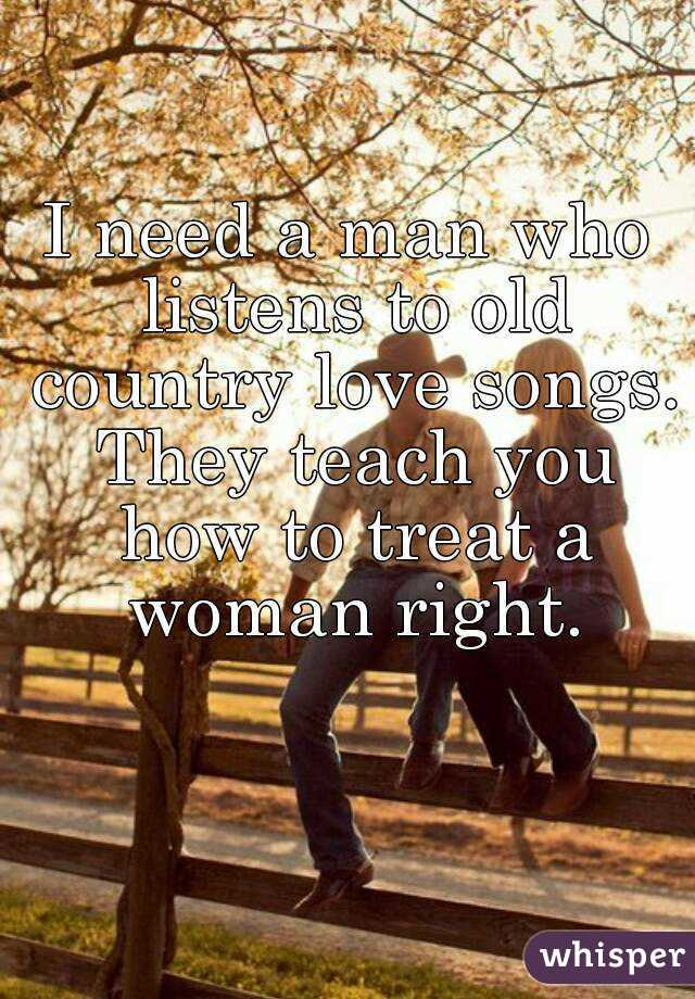 Country loves songs