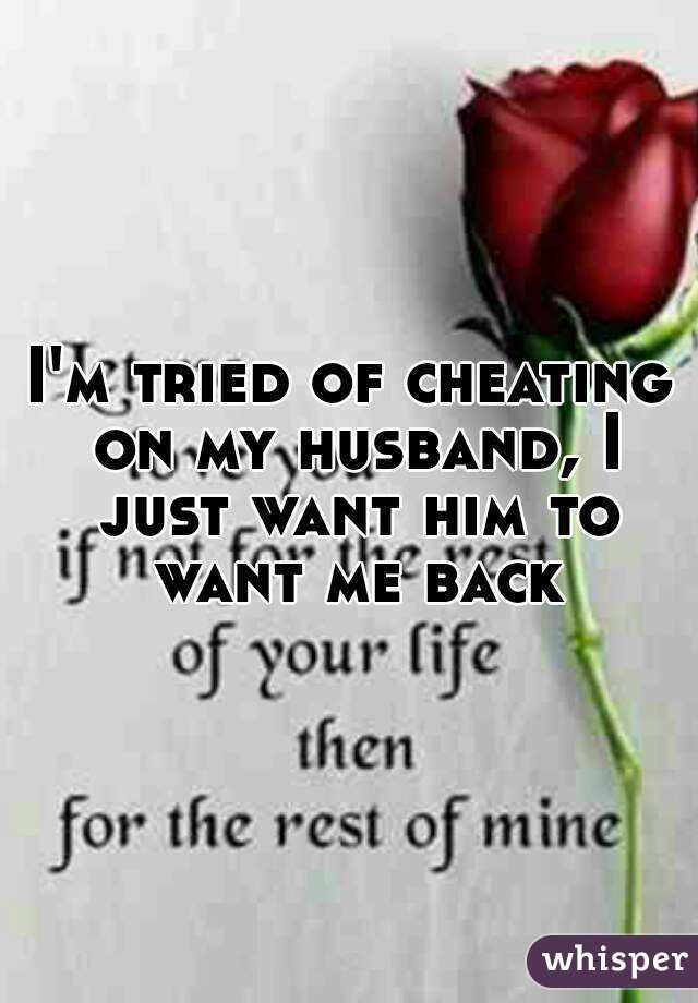 I cheated on my husband and i want him back