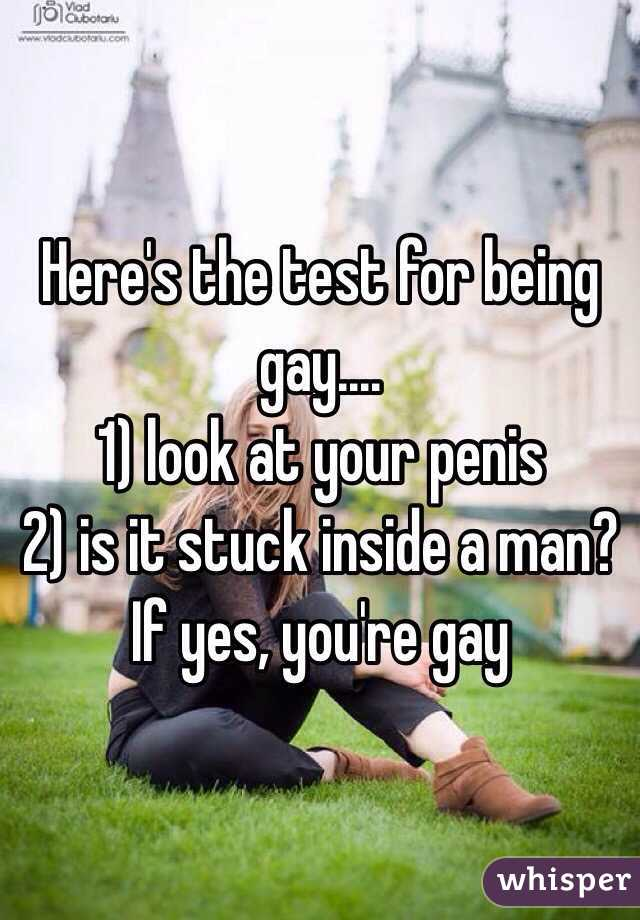 Test for being gay