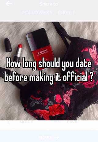 Dating before making it official