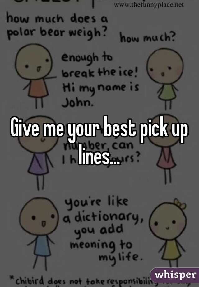 pick up lines to give your number