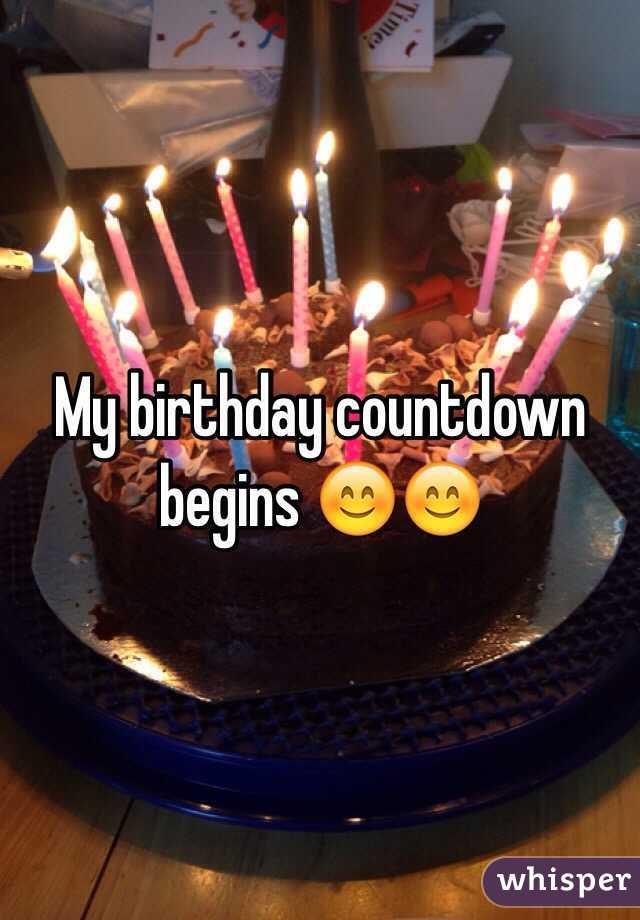 My Birthday Countdown Begins