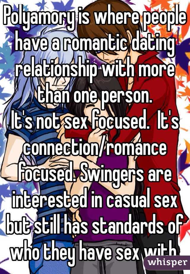 Polyamory is where people have a romantic dating relationship with more  than one person. It's