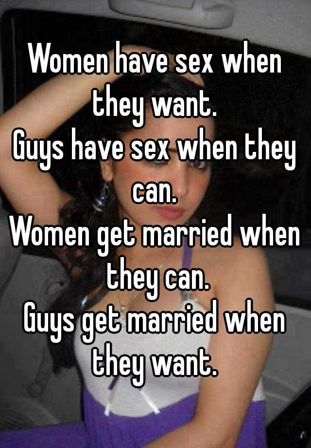 When do women like to have sex