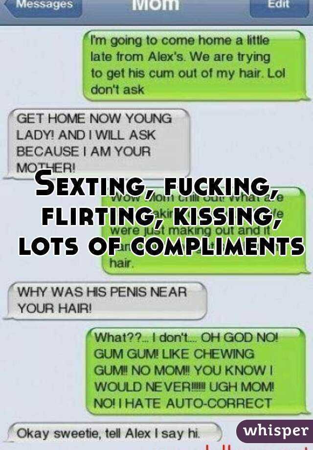 Flirty sexting