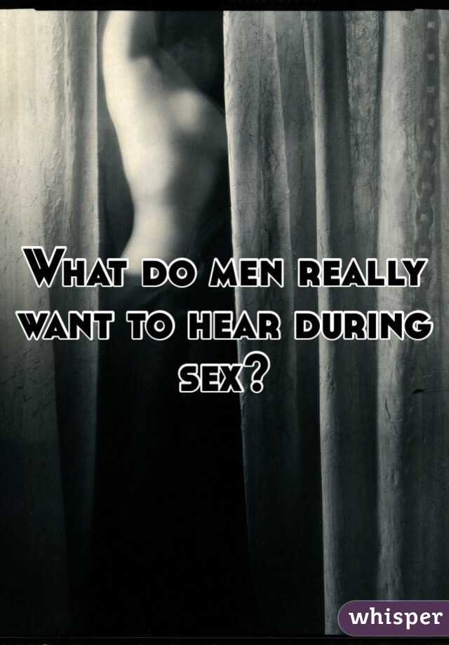 What men like best during sex