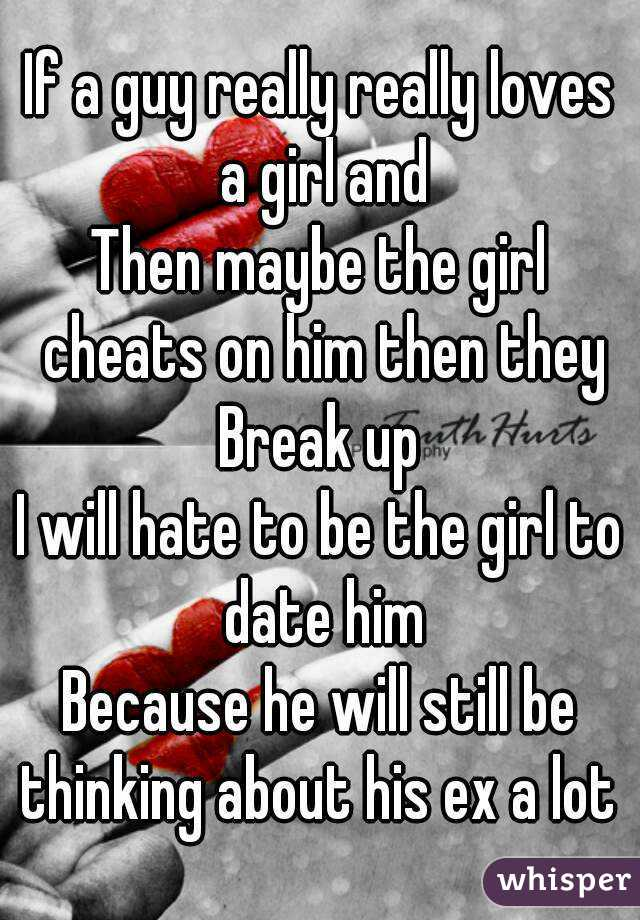 Hookup a guy who loves his ex