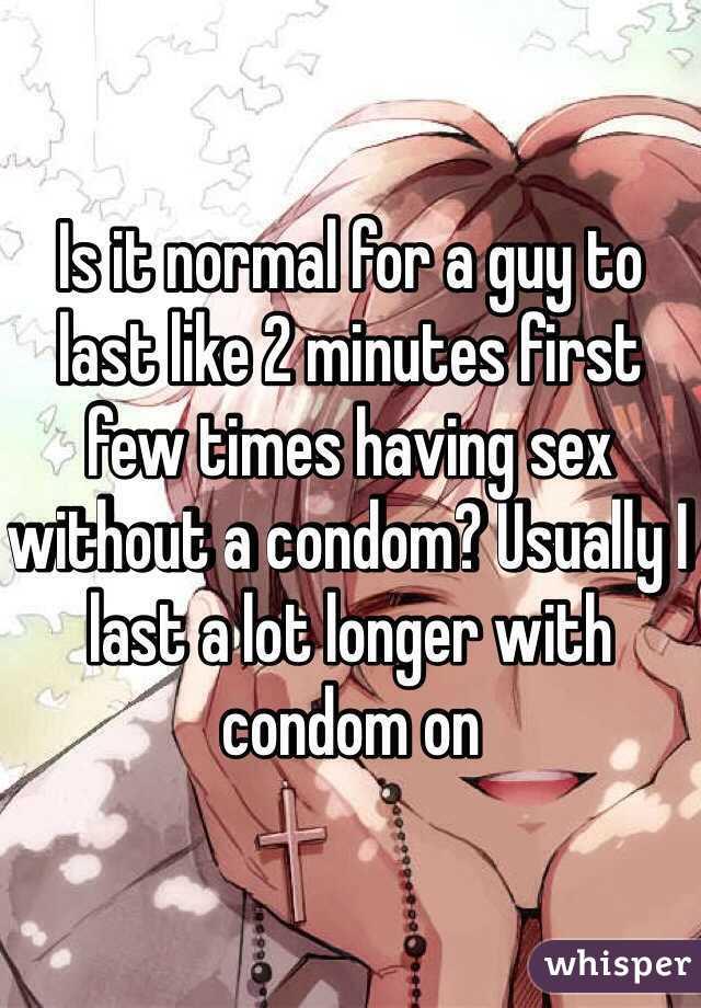 First few times having sex