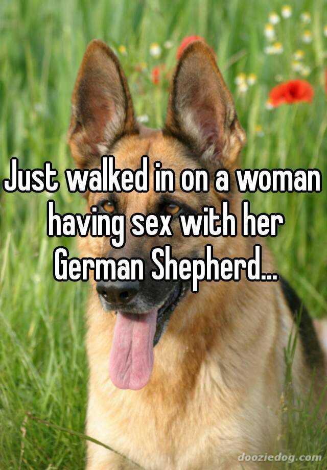 Woman and german shepherd sex