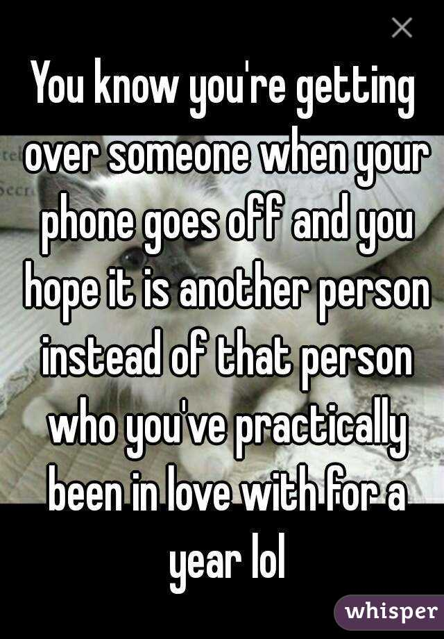 How Do You Know When Someone Is Over You