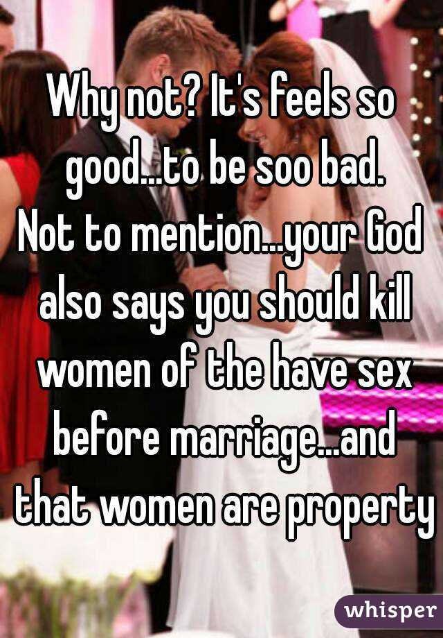 Good sex bad marriage