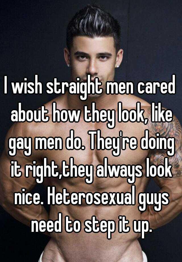 Straight men looking for gay men