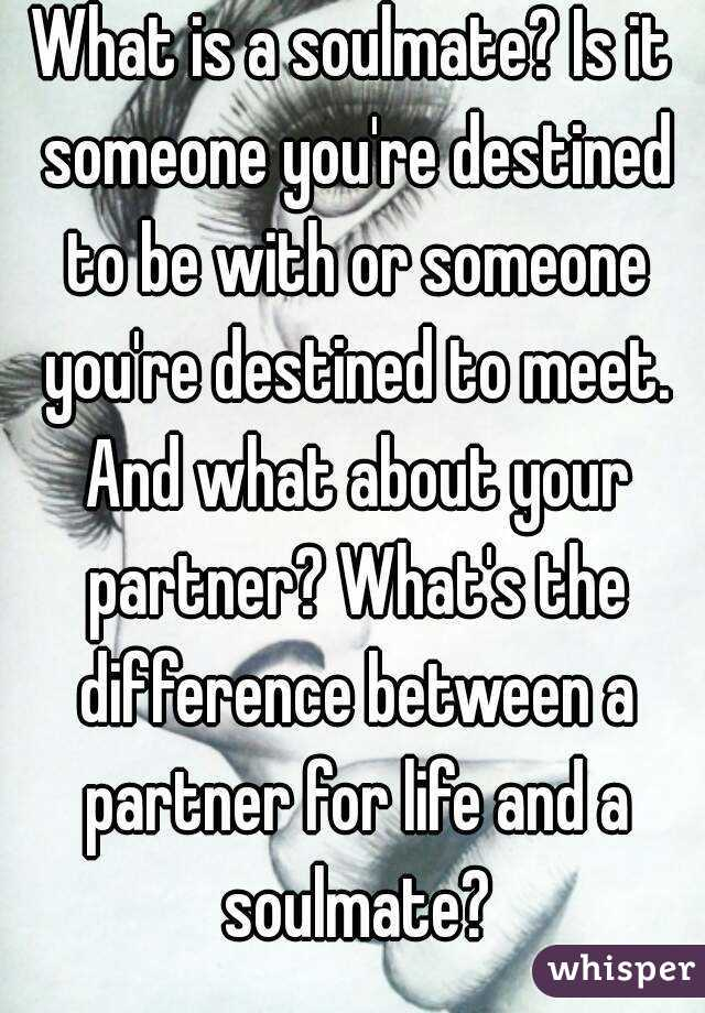 difference between soulmate and life partner