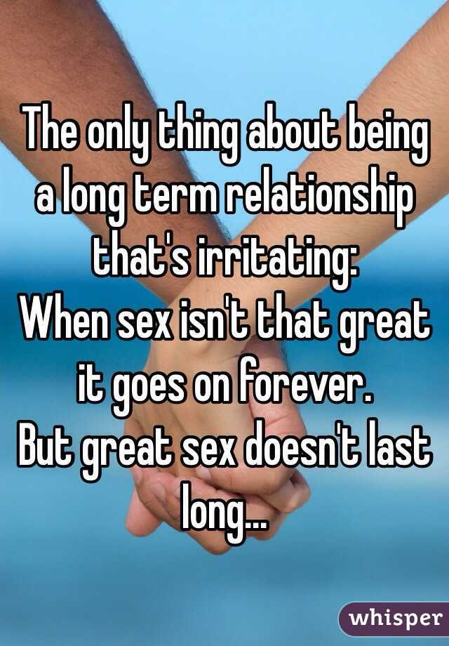 How important is sex in a long term relationship