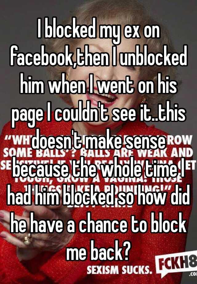 Why ex blocked me