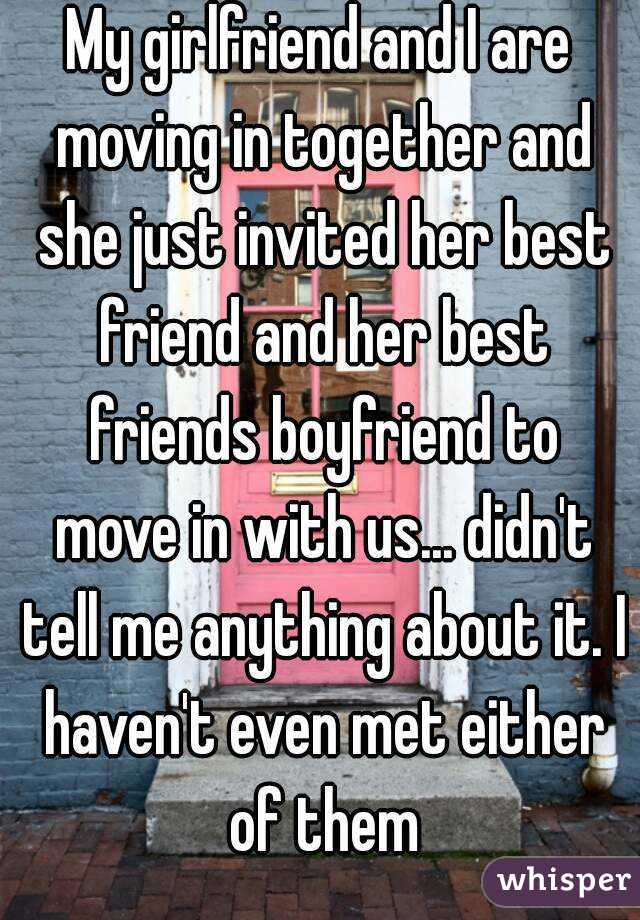 moving in with girlfriend