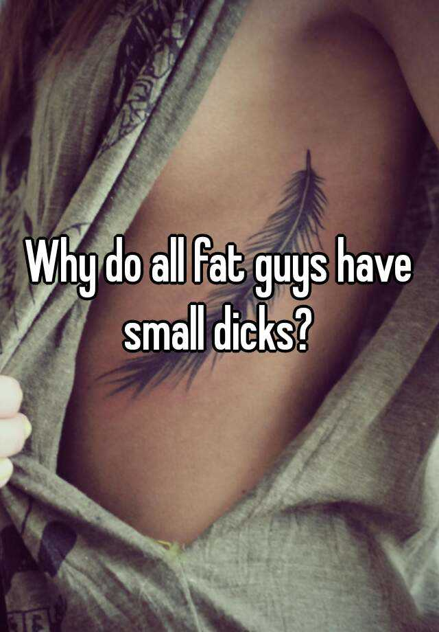 Fat Guys Small Dicks