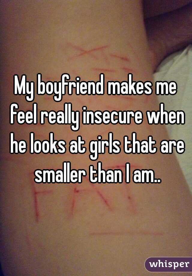 my boyfriend is insecure