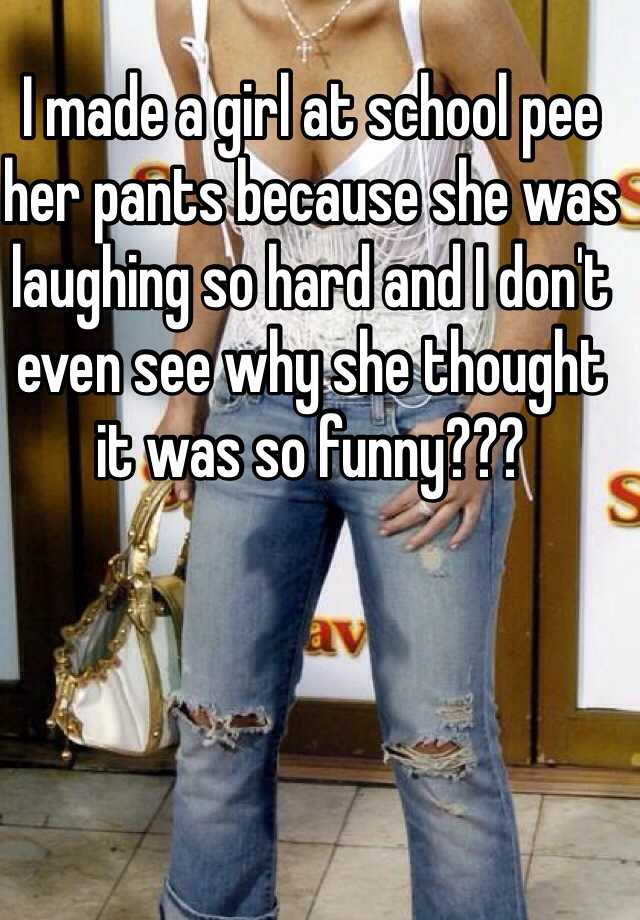 her pants peeing she wee