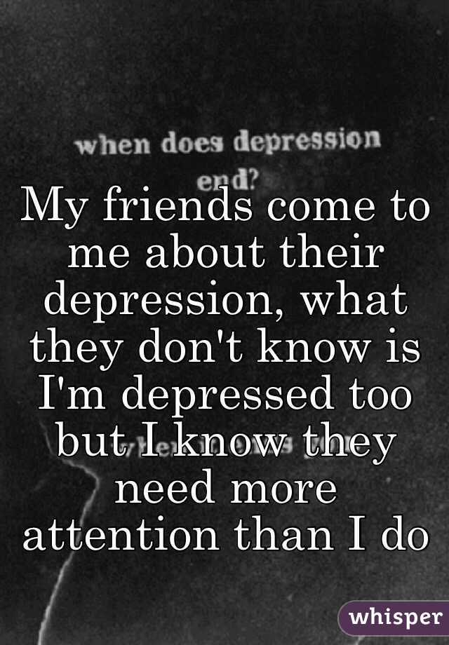 how to tell someone you are depressed