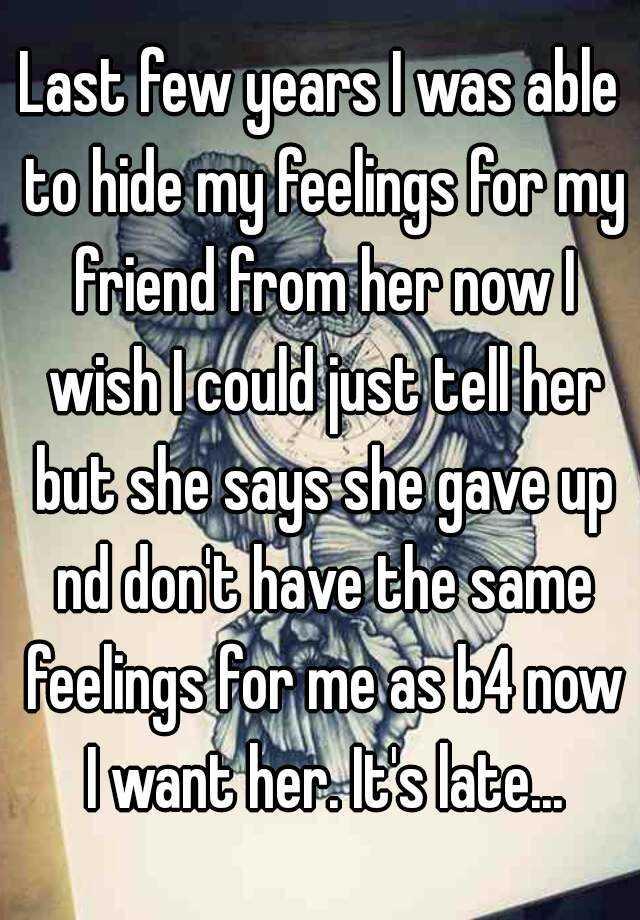Signs she is hiding her feelings