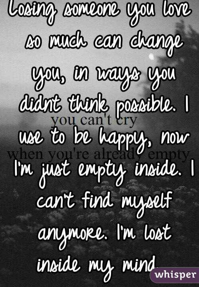 Losing someone u love
