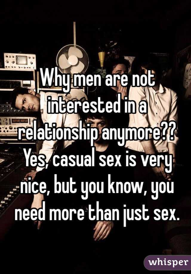 Why men are not interested in sex