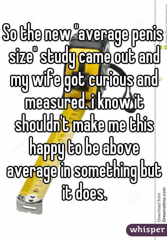 Wife measuring penis