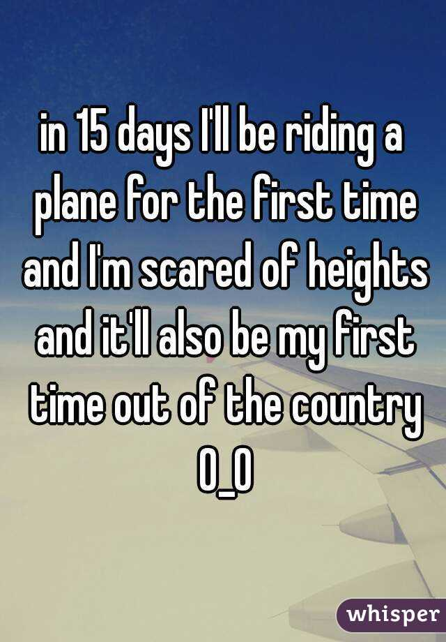first time riding a plane