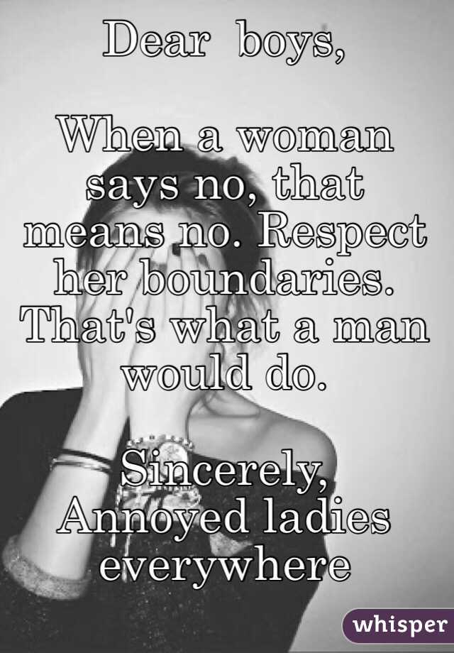 What Respect Means To A Man