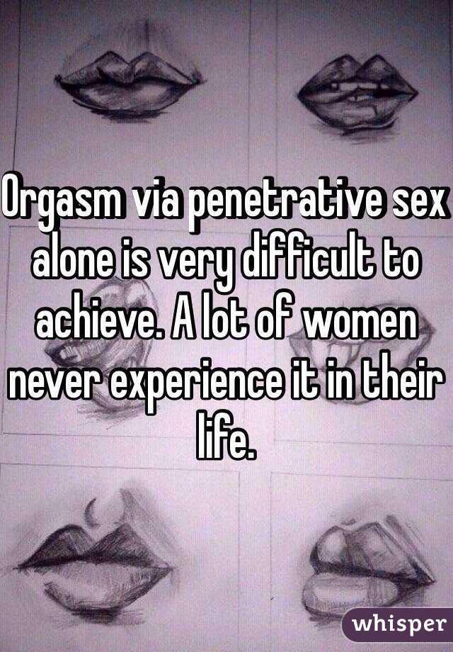 What women orgasm alone