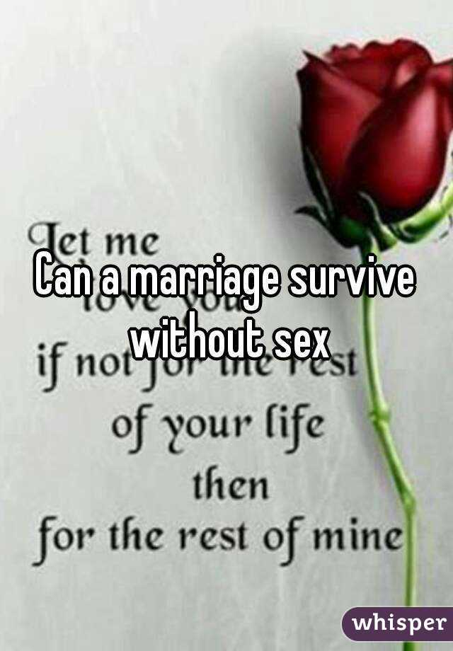 Marrage without sex