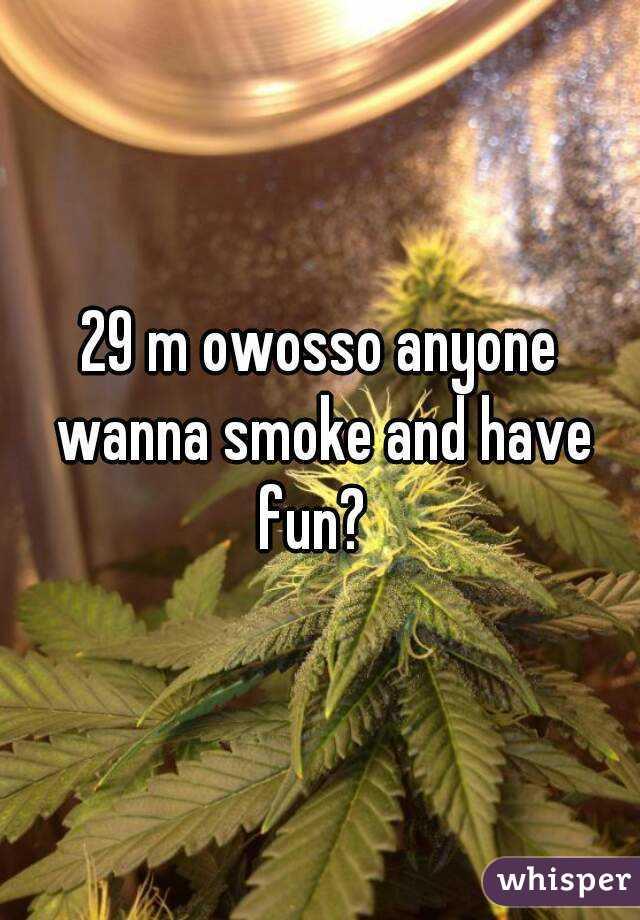 29 m owosso anyone wanna smoke and have fun?