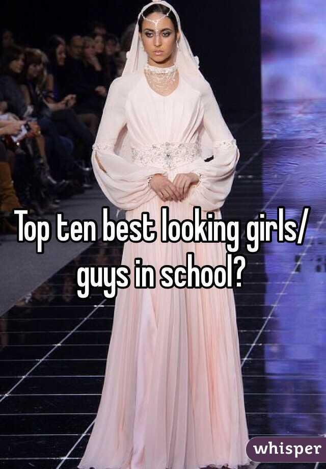 Top ten best looking girls/guys in school?