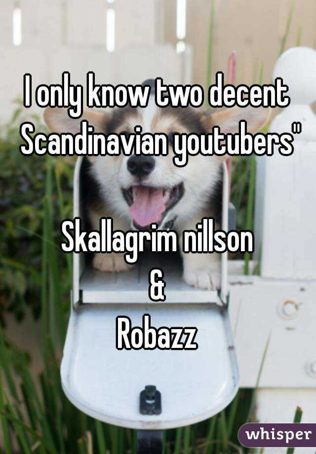 """I only know two decent Scandinavian youtubers""""  Skallagrim nillson & Robazz"""