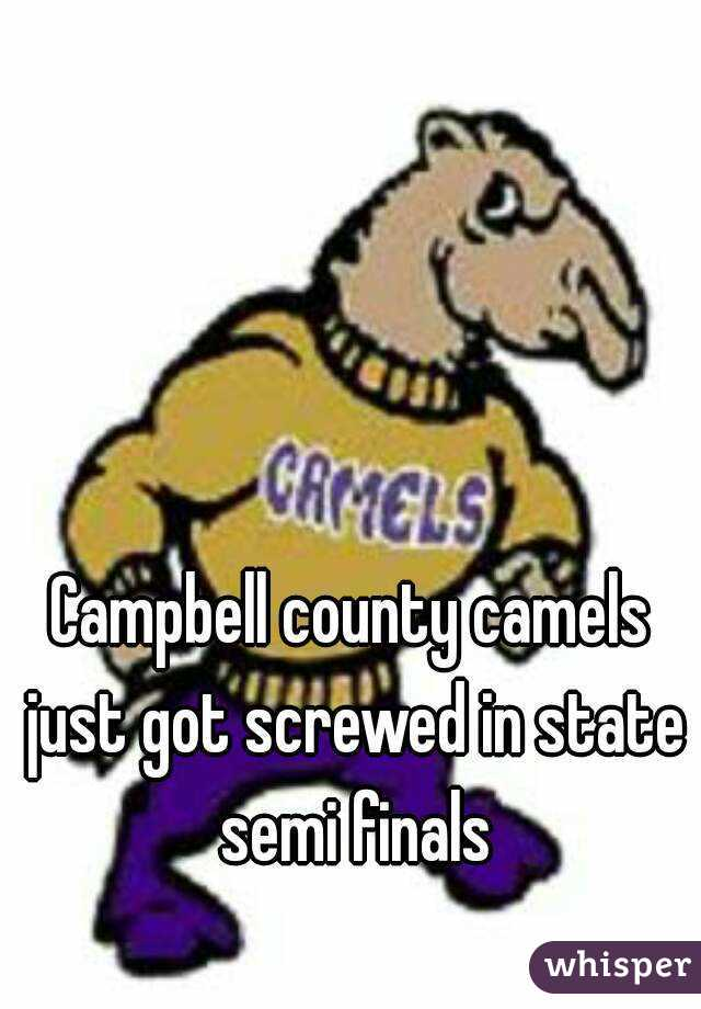 Campbell county camels just got screwed in state semi finals