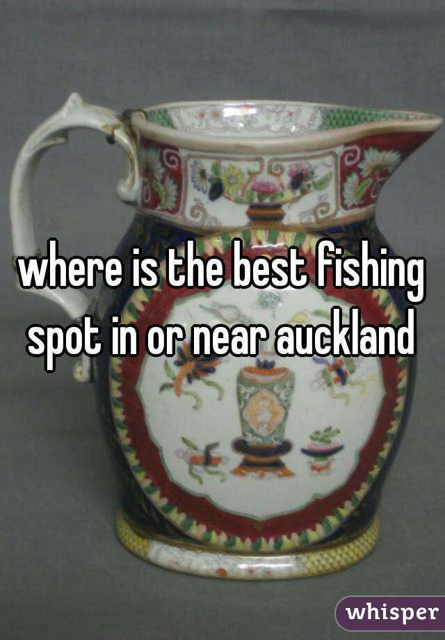 where is the best fishing spot in or near auckland