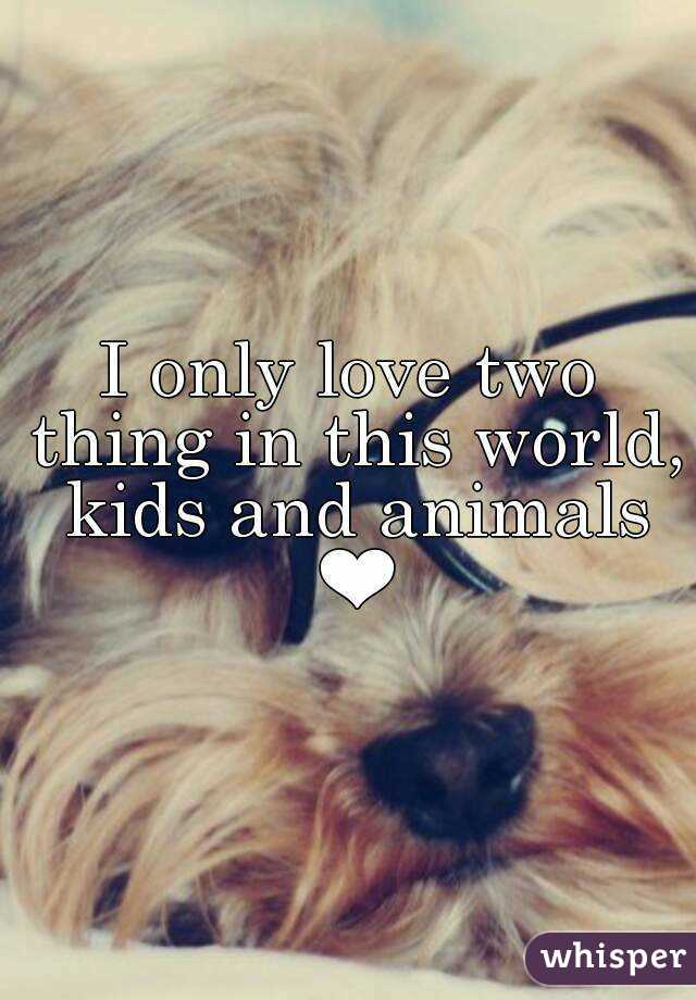 I only love two thing in this world, kids and animals ❤