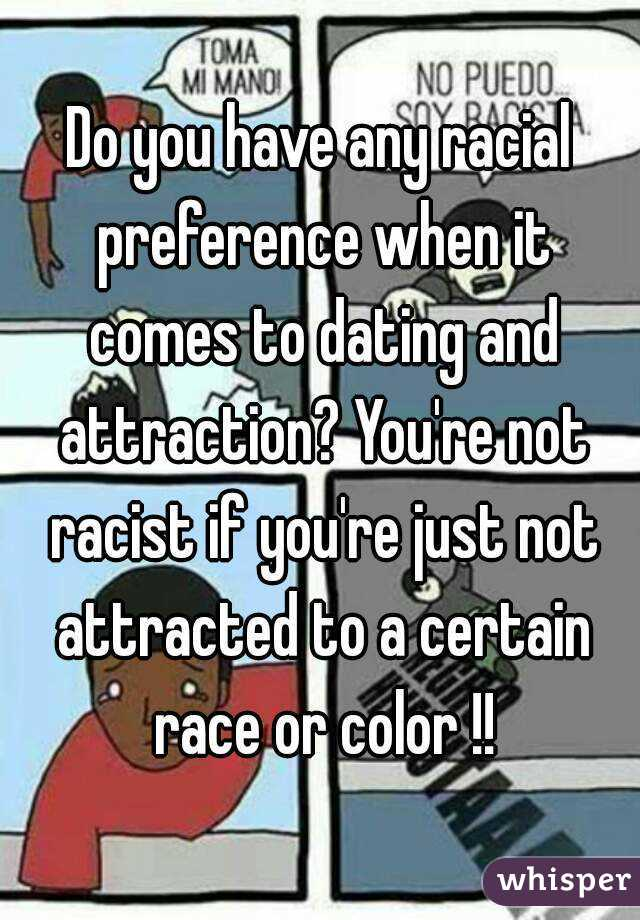 Is it racist if you wont date some races?