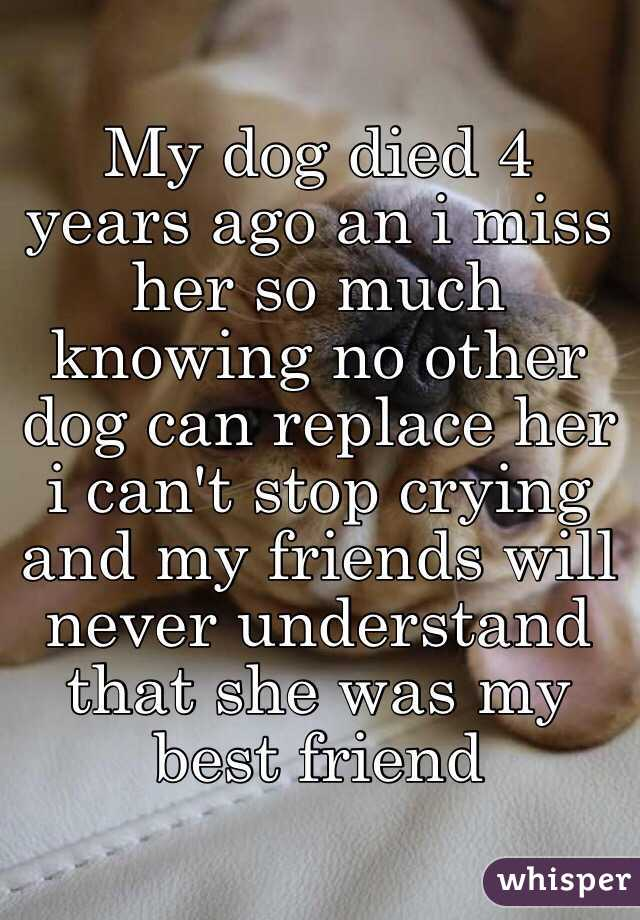 I miss my friend who died