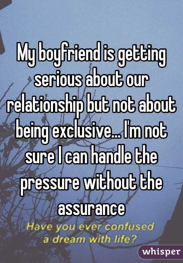 being exclusive in a relationship
