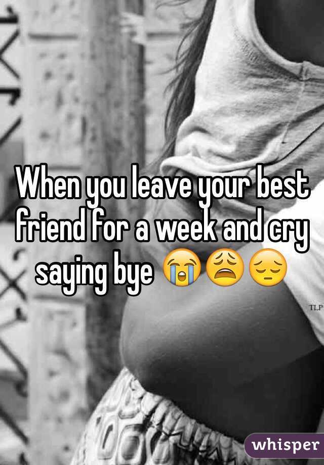 Saying Bye To Your Best Friend