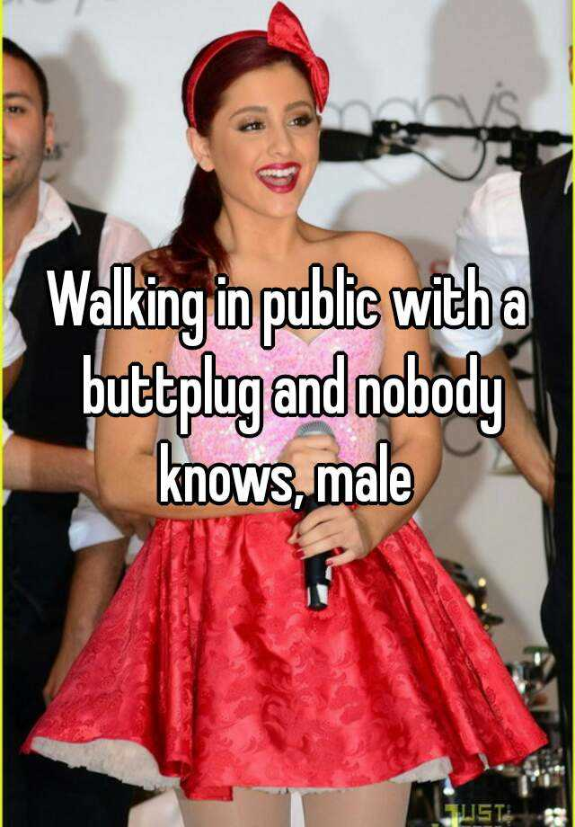 Public butt plug girl all