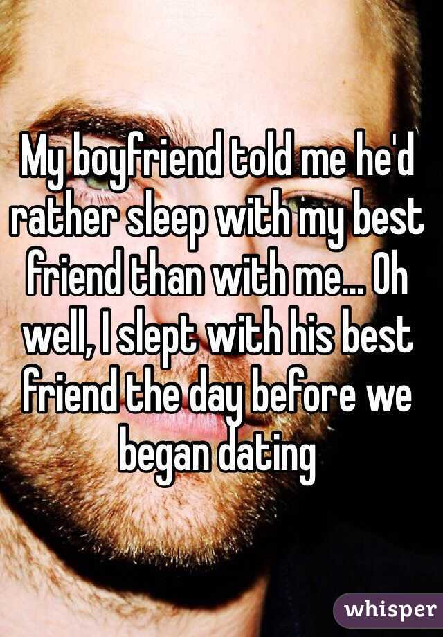 i slept with my friend