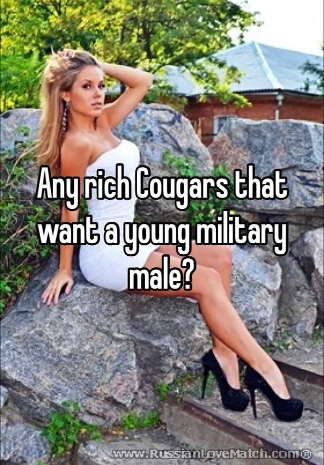 How to find rich cougars
