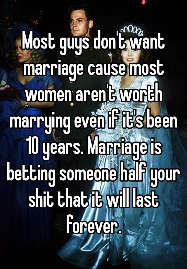 Why marriages don t last
