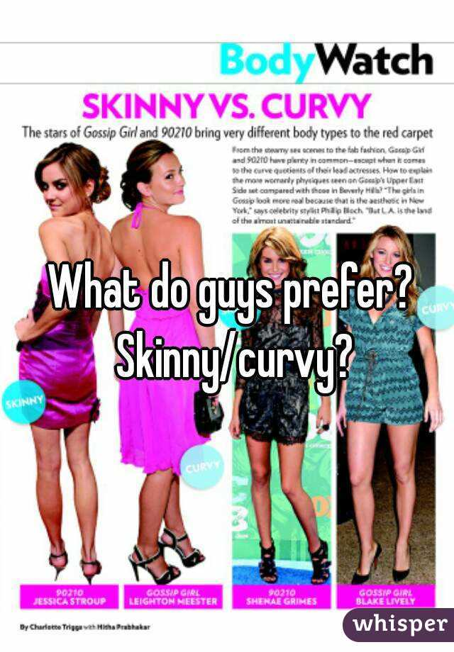 Do men prefer skinny or curvy women
